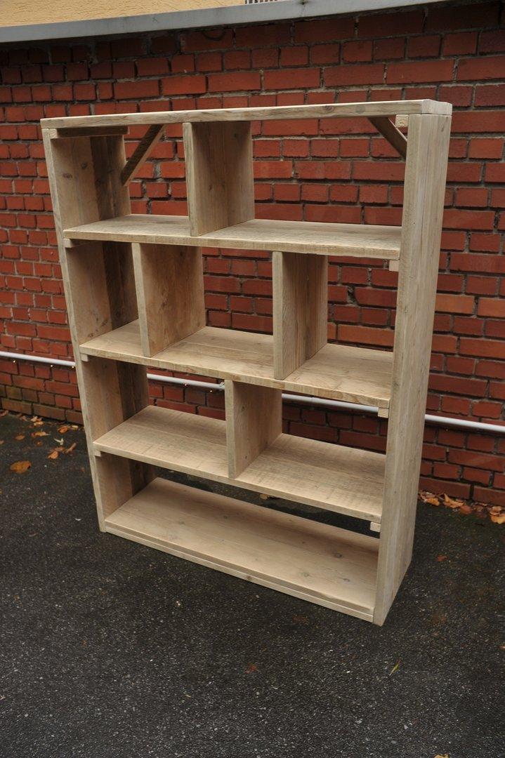 Open boekenkast for Boekenkast steigerhout